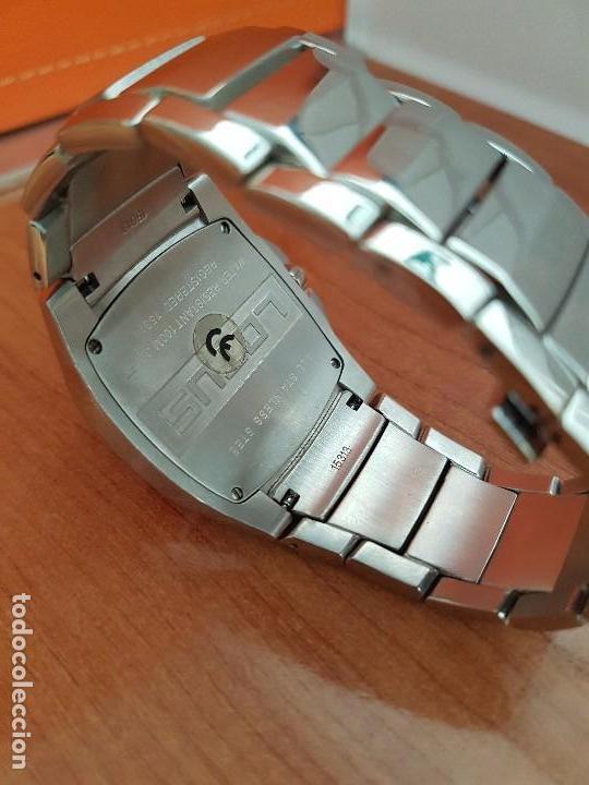 Relojes - Lotus: Reloj caballero de cuarzo LOTUS en acero con calendario a las seis horas, correa de acero original. - Foto 11 - 115488128