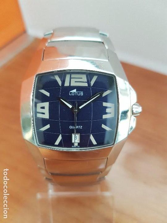 Relojes - Lotus: Reloj caballero de cuarzo LOTUS en acero con calendario a las seis horas, correa de acero original. - Foto 14 - 115488128