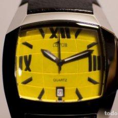 Relojes - Lotus: RELOJ LOTUS ESFERA AMARILLA . NUEVO CON ETIQUETAS . 30% DESCUENTO. Lote 100263195