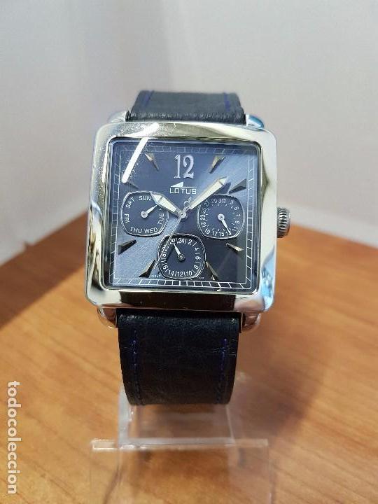 c706ca22d3a4 Relojes - Lotus  Reloj caballero LOTUS de cuarzo multifunción de acero  cuadrado