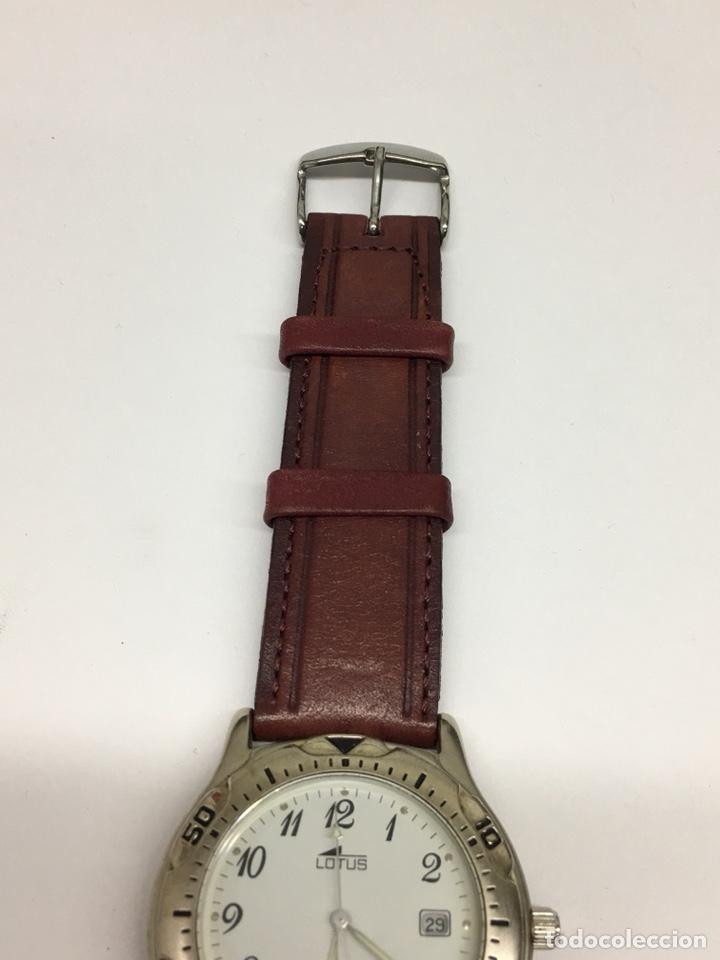 Relojes - Lotus: Reloj Lotus en acero con correa de piel 5Atm como nuevo - Foto 2 - 208579252