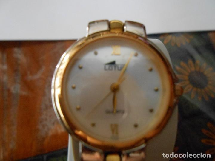 Relojes - Lotus: RELOJ DE PULSERA DE SEÑORA O CADETE LOTUS. 5 MICRON GOLD PLATED. - Foto 6 - 128290507