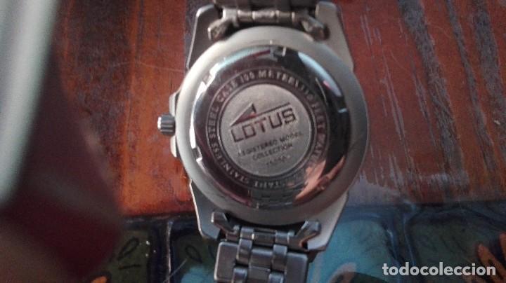 Relojes - Lotus: RELOJ DE PULSERA UNISEX LOTUS ,ARMIS DE METAL Y WATER RESIST 100M. CON SU CAJA. - Foto 5 - 128775415