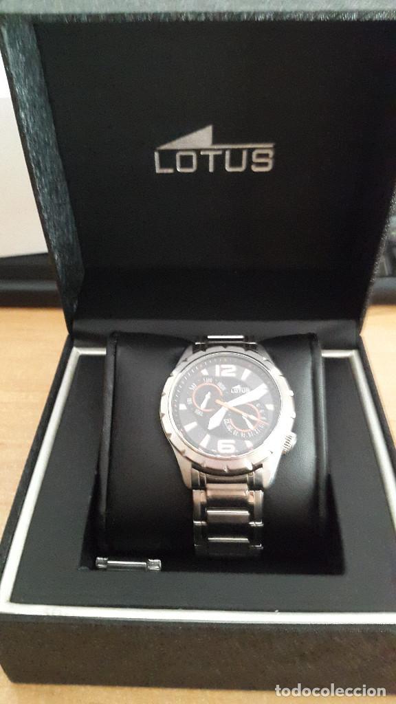 Relojes - Lotus: reloj lotus deportivo en acero - con caja y accesorios - 2 esferas día semana y mes - ver fotos - Foto 2 - 128959939