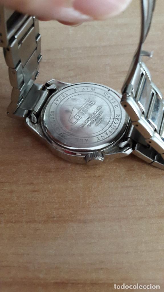 Relojes - Lotus: reloj lotus deportivo en acero - con caja y accesorios - 2 esferas día semana y mes - ver fotos - Foto 4 - 128959939