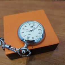 Relojes - Lotus: RELOJ DE ENFERMERA ACERO CUARZO LOTUS CON CALENDARIO Y CON BROCHE PARA COLGAR EN BATA DE ENFERMERA . Lote 130046375