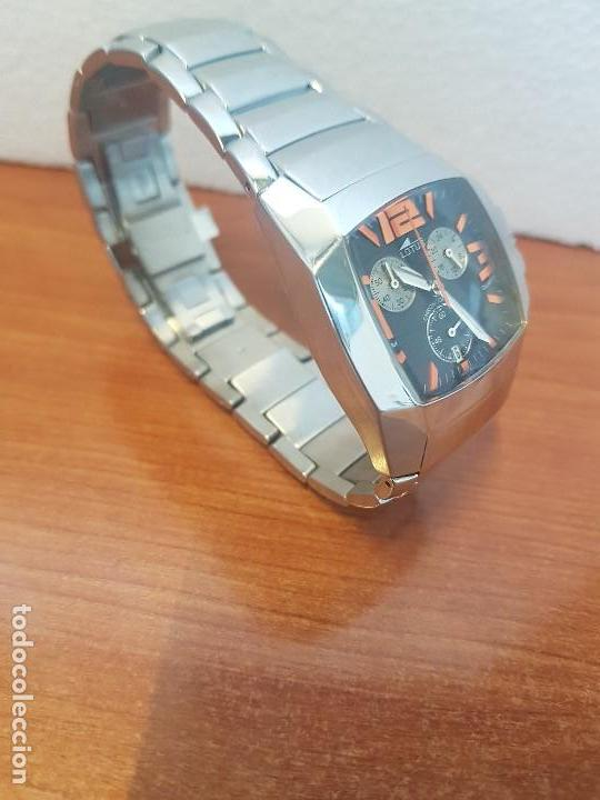 Relojes - Lotus: Reloj caballero LOTUS de cuarzo cronografo en acero, correa acero original de LOTUS de stock tienda - Foto 3 - 133165330