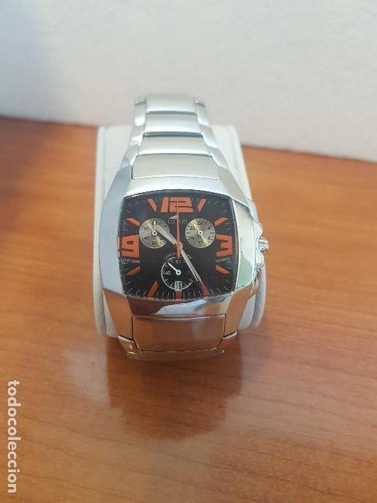 Relojes - Lotus: Reloj caballero LOTUS de cuarzo cronografo en acero, correa acero original de LOTUS de stock tienda - Foto 4 - 133165330