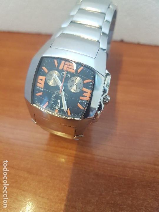 Relojes - Lotus: Reloj caballero LOTUS de cuarzo cronografo en acero, correa acero original de LOTUS de stock tienda - Foto 7 - 133165330