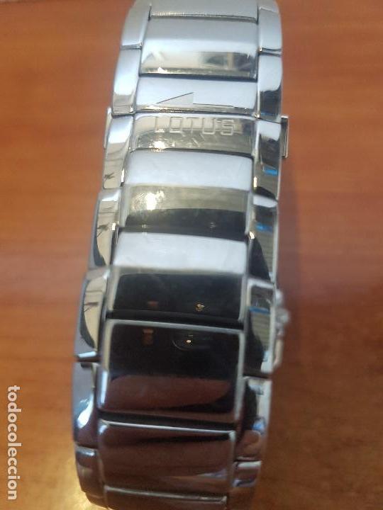 Relojes - Lotus: Reloj caballero LOTUS de cuarzo cronografo en acero, correa acero original de LOTUS de stock tienda - Foto 12 - 133165330