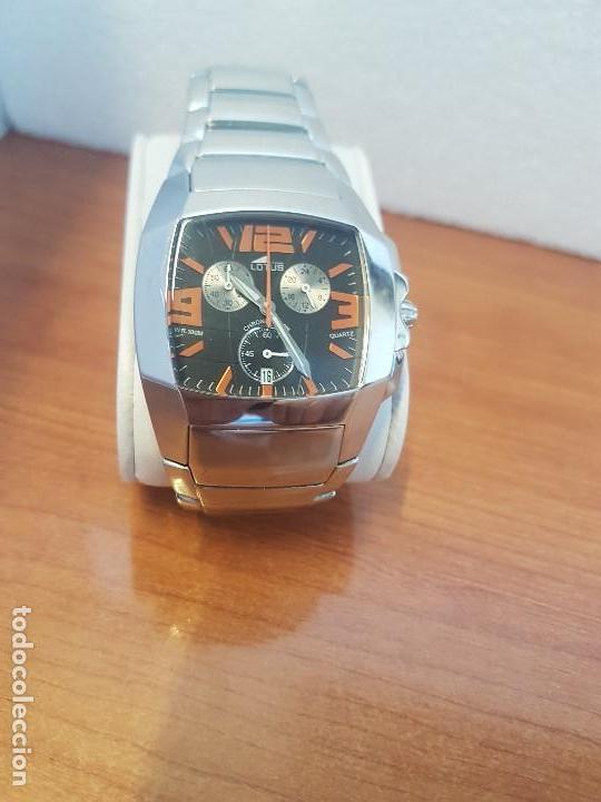 Relojes - Lotus: Reloj caballero LOTUS de cuarzo cronografo en acero, correa acero original de LOTUS de stock tienda - Foto 13 - 133165330