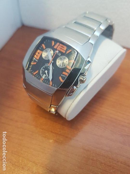 Relojes - Lotus: Reloj caballero LOTUS de cuarzo cronografo en acero, correa acero original de LOTUS de stock tienda - Foto 15 - 133165330