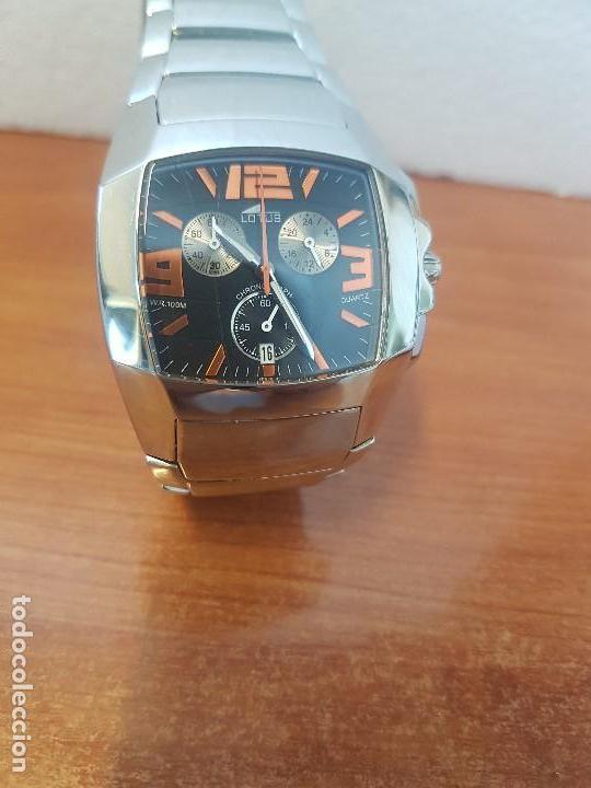Relojes - Lotus: Reloj caballero LOTUS de cuarzo cronografo en acero, correa acero original de LOTUS de stock tienda - Foto 18 - 133165330