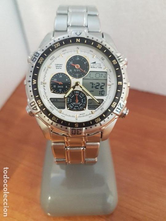 746b30d5c580 Reloj caballero lotus analogico y digital de cu - Vendido en Venta ...