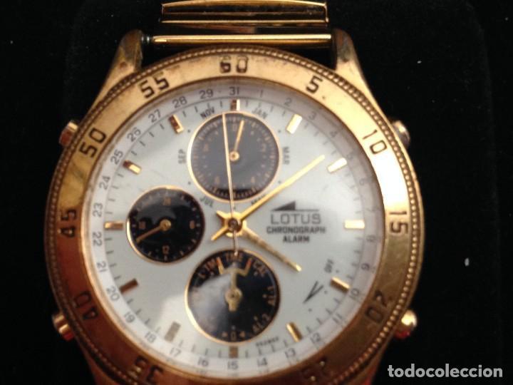 RELOJ LOTUS MULTIFUNCION ,CRONOGRAFO,ALARMA EN CAJA PULSERA ELASTICA CHAPADA PROCEDE CIERRE JOYERI (Relojes - Relojes Actuales - Lotus)