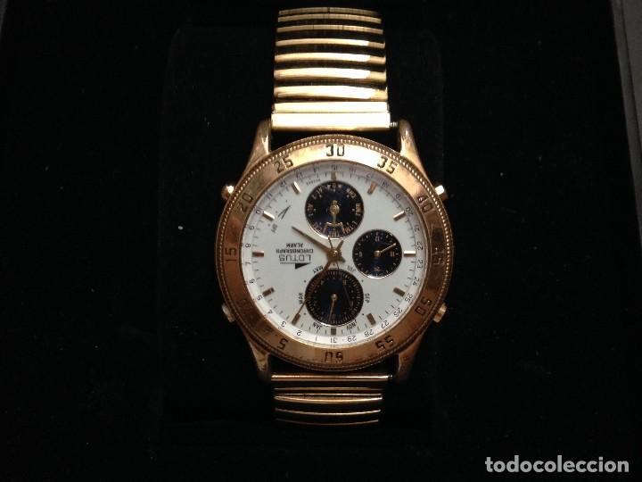 Relojes - Lotus: reloj lotus multifuncion ,cronografo,alarma en caja pulsera elastica chapada procede cierre joyeri - Foto 4 - 134402562