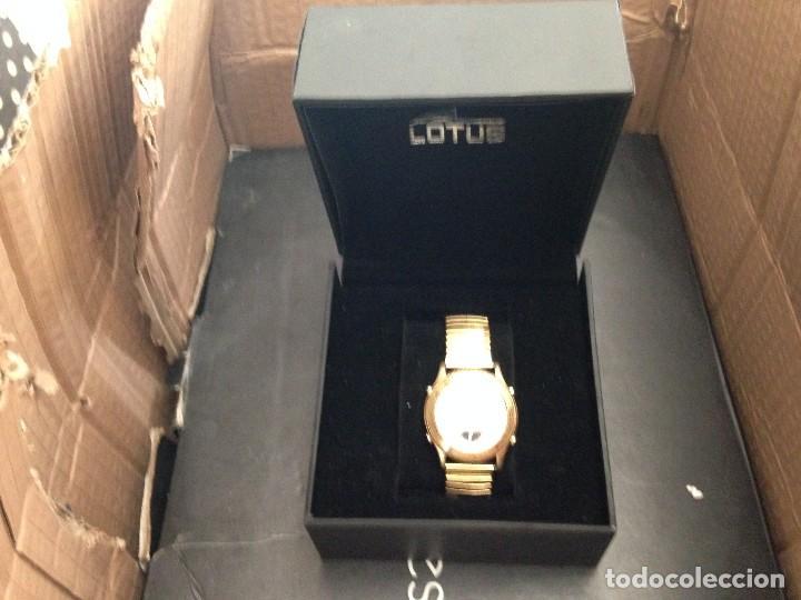 Relojes - Lotus: reloj lotus multifuncion ,cronografo,alarma en caja pulsera elastica chapada procede cierre joyeri - Foto 5 - 134402562