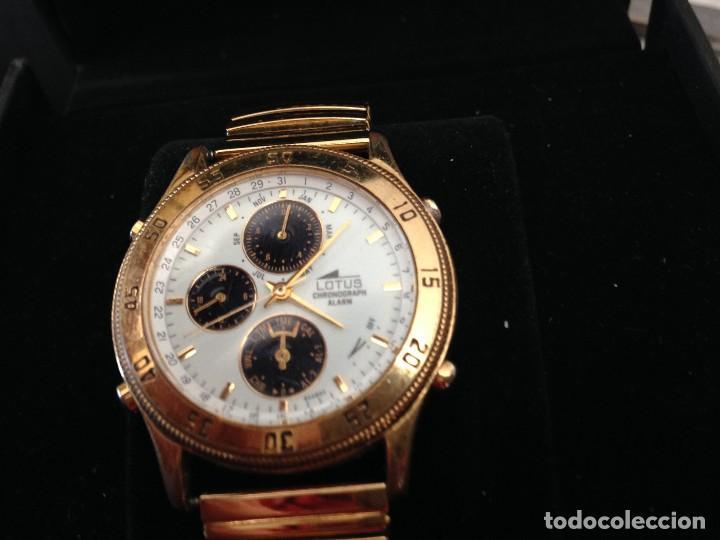 Relojes - Lotus: reloj lotus multifuncion ,cronografo,alarma en caja pulsera elastica chapada procede cierre joyeri - Foto 6 - 134402562