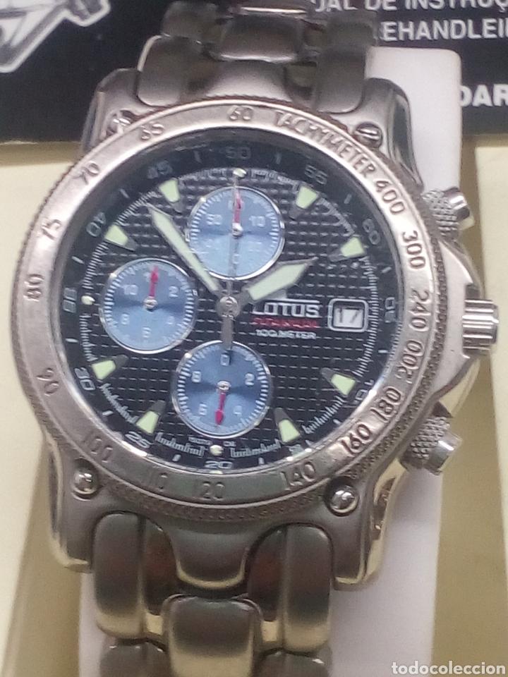 Reloj Lotus Titanio y Cronógrafo en su caja nuevo