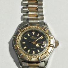 Relojes - Lotus: LOTUS QUARTZ 8135 - 38 M/M.-C/C. TODO ACERO, CALENDARIO, PULSERA MAX 180 M/M.. Lote 138111902
