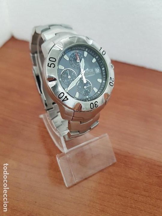 Relojes - Lotus: Reloj caballero LOTUS de cuarzo con calendario a las tres, correa de acero original LOTUS - Foto 3 - 138648250