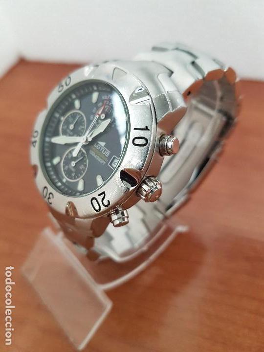 Relojes - Lotus: Reloj caballero LOTUS de cuarzo con calendario a las tres, correa de acero original LOTUS - Foto 4 - 138648250