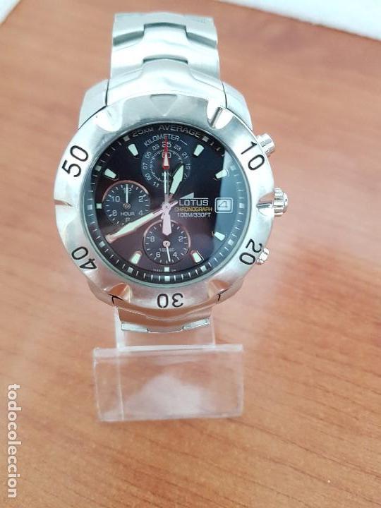Relojes - Lotus: Reloj caballero LOTUS de cuarzo con calendario a las tres, correa de acero original LOTUS - Foto 8 - 138648250