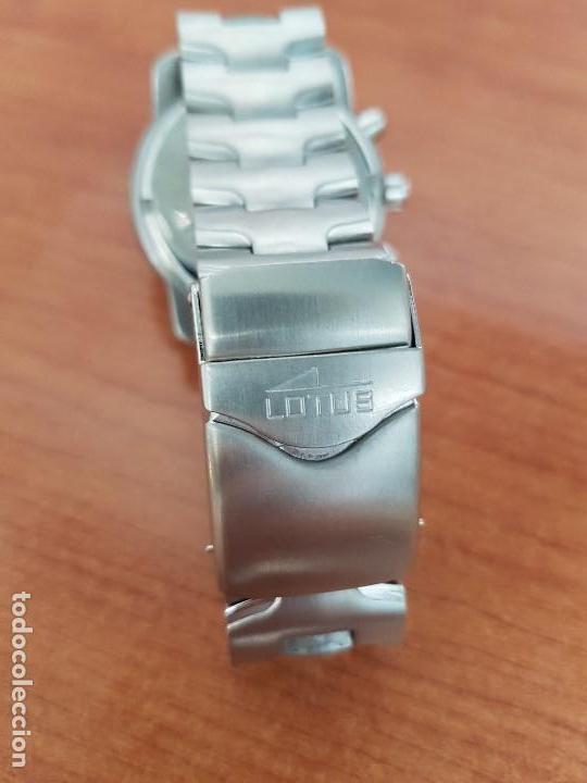 Relojes - Lotus: Reloj caballero LOTUS de cuarzo con calendario a las tres, correa de acero original LOTUS - Foto 9 - 138648250
