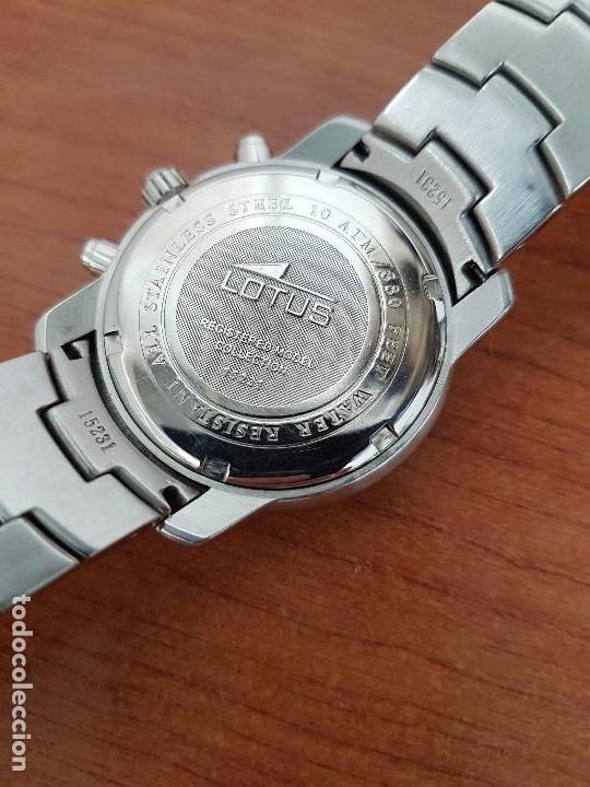 Relojes - Lotus: Reloj caballero LOTUS de cuarzo con calendario a las tres, correa de acero original LOTUS - Foto 10 - 138648250