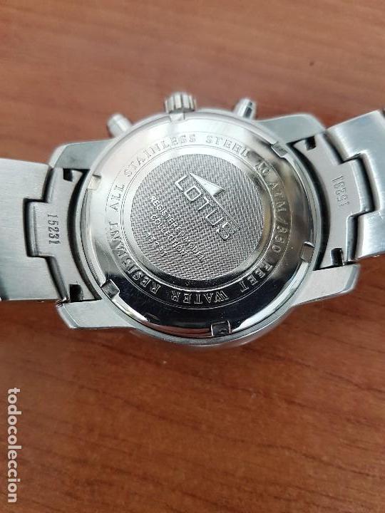 Relojes - Lotus: Reloj caballero LOTUS de cuarzo con calendario a las tres, correa de acero original LOTUS - Foto 11 - 138648250