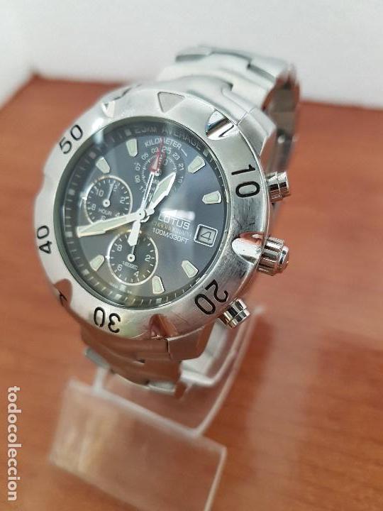 Relojes - Lotus: Reloj caballero LOTUS de cuarzo con calendario a las tres, correa de acero original LOTUS - Foto 13 - 138648250