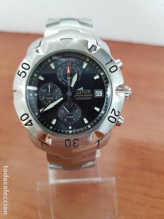 Relojes - Lotus: Reloj caballero LOTUS de cuarzo con calendario a las tres, correa de acero original LOTUS - Foto 18 - 138648250