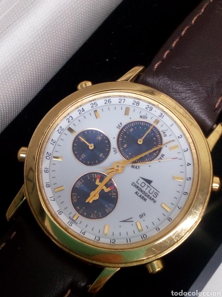 RELOJ LOTUS CRONÓGRAFO EN SU ESTUCHE NUEVO CHRONOGRAPH Y ALARMA VINTAGE (Relojes - Relojes Actuales - Lotus)