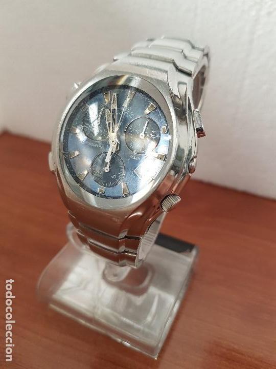 Relojes - Lotus: Reloj caballero LOTUS de cuarzo con alarma y calendario a las tres, correa de acero original LOTUS - Foto 2 - 144545658