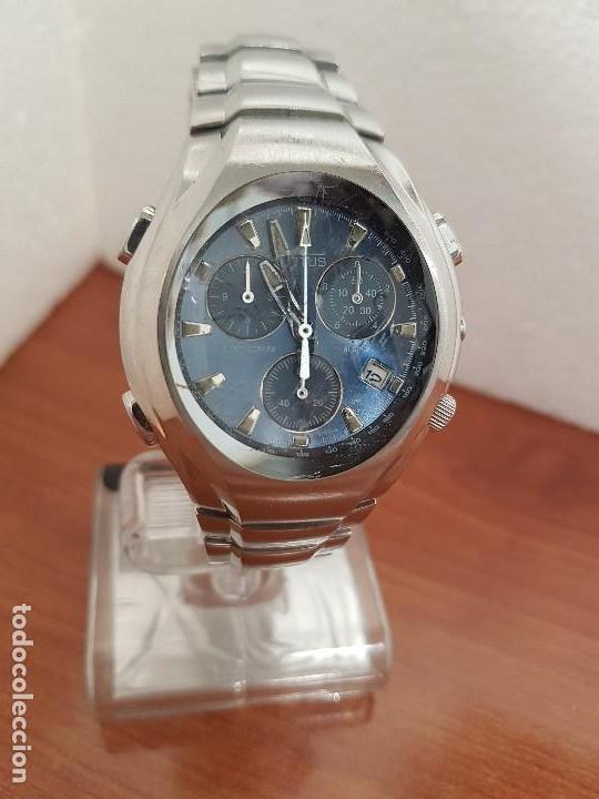 Relojes - Lotus: Reloj caballero LOTUS de cuarzo con alarma y calendario a las tres, correa de acero original LOTUS - Foto 3 - 144545658