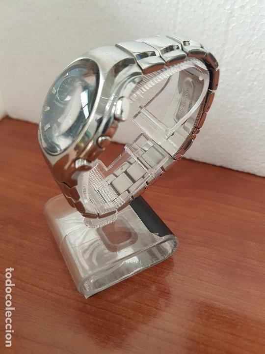 Relojes - Lotus: Reloj caballero LOTUS de cuarzo con alarma y calendario a las tres, correa de acero original LOTUS - Foto 4 - 144545658
