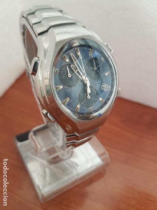 Relojes - Lotus: Reloj caballero LOTUS de cuarzo con alarma y calendario a las tres, correa de acero original LOTUS - Foto 6 - 144545658