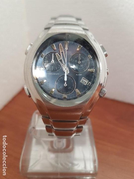 Relojes - Lotus: Reloj caballero LOTUS de cuarzo con alarma y calendario a las tres, correa de acero original LOTUS - Foto 11 - 144545658