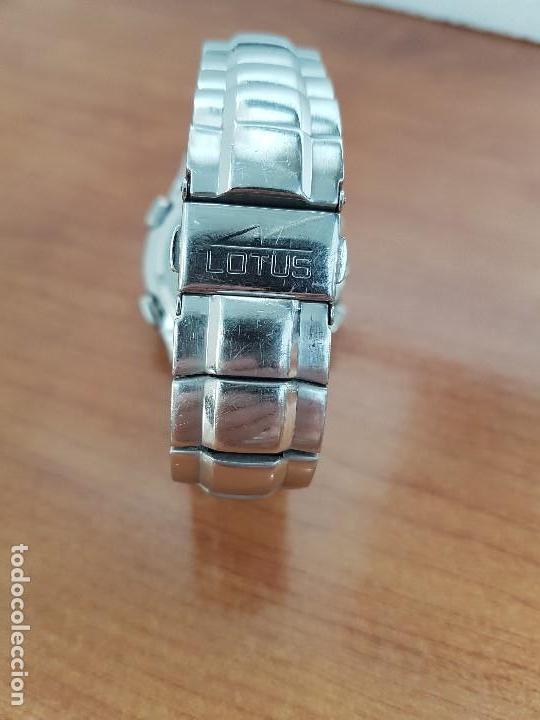 Relojes - Lotus: Reloj caballero LOTUS de cuarzo con alarma y calendario a las tres, correa de acero original LOTUS - Foto 12 - 144545658
