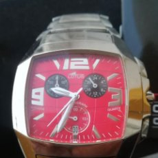Relojes - Lotus: RELOJ LOTUS SHINY MFS01 RACING RED MULTIFUNCIÓN ACERO INOXIDABLE. Lote 146136638