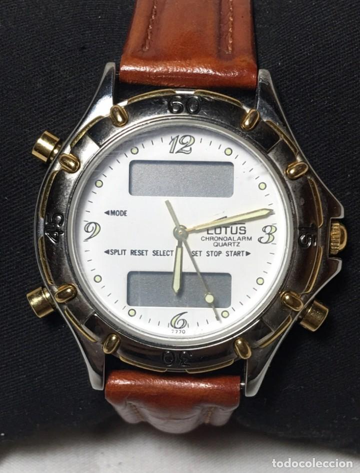 Relojes - Lotus: Reloj Lotus Chrono Alarm con correa original de cuero - Funcionando - Foto 2 - 147250414