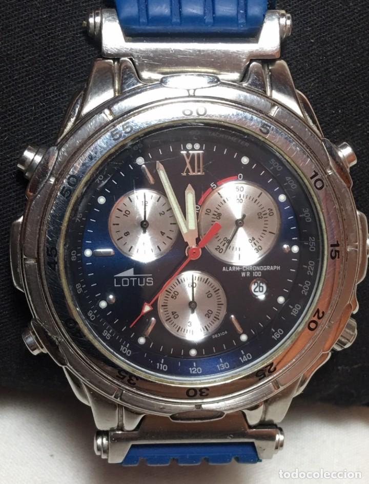 Relojes - Lotus: Reloj Lotus Alarm Chrono WR 100 con correa azul - Funcionando - Foto 2 - 147335014