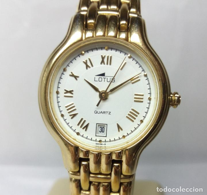 5800eebeafb4 Reloj lotus chapado oro para mujer (correa muy reducida) - caja 25 mm -