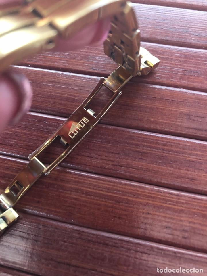 Relojes - Lotus: PRECIOSO RELOJ MARCA LOTUS QUARTZ WATTER RESISTANT 5 ATM BAÑADO EN ORO - Foto 8 - 158131660