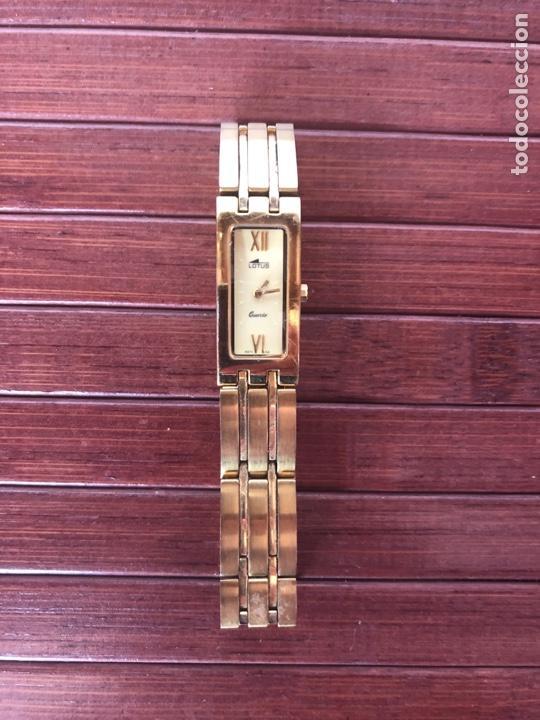 PRECIOSO RELOJ MARCA LOTUS QUARTZ WATTER RESISTANT 5 ATM BAÑADO EN ORO (Relojes - Relojes Actuales - Lotus)
