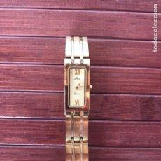 Relojes - Lotus: PRECIOSO RELOJ MARCA LOTUS QUARTZ WATTER RESISTANT 5 ATM BAÑADO EN ORO. Lote 158131660