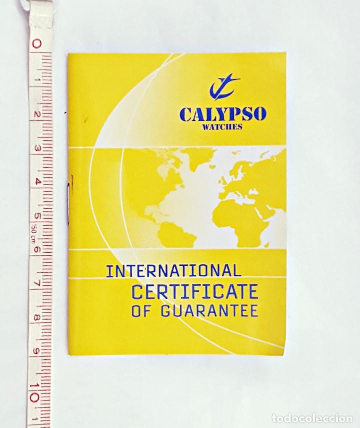 CERTIFICADO INTERNACIONAL DE GARANTIA DE RELOJ CALIPSO.. (Relojes - Relojes Actuales - Lotus)