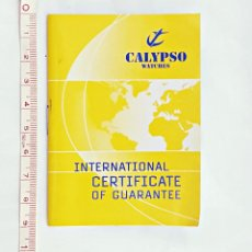 Relojes - Lotus: CERTIFICADO INTERNACIONAL DE GARANTIA DE RELOJ CALIPSO... Lote 158459650