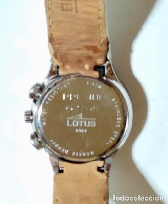Relojes - Lotus: LOTUS 9984 - 34 M/M. C/C. CAJA DE ACERO MDL. DEPOSÉ - CRONOGRAFO . - Foto 6 - 169822984
