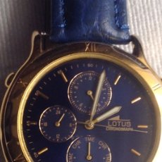 Relojes - Lotus: RELOJ ANTIGUO LOTUS 9611 CHRONOGRAPH WATCH, CON CAJA. Lote 178608262